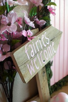diy fairy party | Fairy Party Fairy Welcome Sign DIY | Flickr - Photo Sharing! _ Also make one for elves