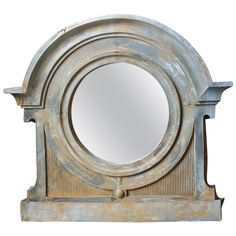 Zinc Bull's Eye Mirror | From a unique collection of antique and modern architectural elements at https://www.1stdibs.com/furniture/building-garden/architectural-elements/
