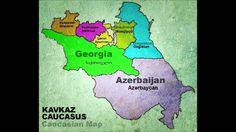 Caucasian Caucasus Map - Kavkazskaya Kavkaz Karta - Qafqazin Qavqaz Xeritesi - Caucasian Azerbaijan Georgia - Dagestan chechenya - ingushetia ossetia - kabarda karachay - cerkes adige -- Derbent Azerbaijan - Дербент Азербайджан