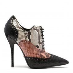 Gia Python brogue lace-up shoes