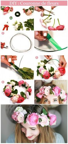 Camping gift ideas [for roadtrip lovers and outdoor freaks] Diy Flower Crown, Diy Crown, Diy Flowers, Flowers In Hair, Flash Tattoos, Diy Craft Projects, Diy And Crafts, Tattoo Diy, Flower Headdress