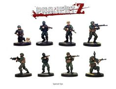 The 'Special Operations Team' Expansion Set contains 8 Spec Ops soldiers with a fantastic range of heads, weapons and gear.