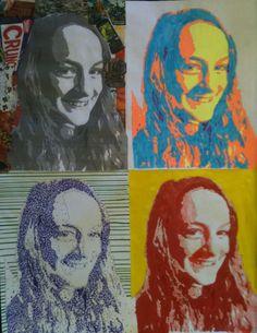 Mr. MintArt: 7th grade self portrait techniques