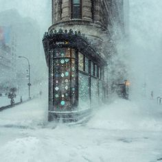 This Photograph of the NYC Winter Storm Looks Like an Impressionist Painting Michele Palazzo. Jonas Blizzard in New York, 2016.