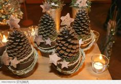 Perfect for both fall and winter, try these Easy Pine Cone Crafts ideas for Kids, and the whole family. Fun and easy DIY Christmas Crafts for all ages.Little Hiccups: DIY Waterless Snow Globes (homemade kids gifts snow globes)Creative DIY Snow Globe Mason Pine Cone Christmas Tree, Rustic Christmas, Christmas Holidays, Pine Cone Crafts, Christmas Projects, Holiday Crafts, Christmas Ideas, Pine Cone Decorations, Christmas Decorations