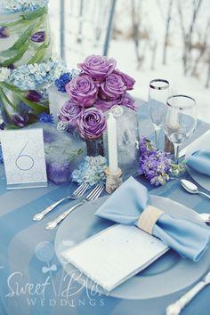 Winter Wedding Tablescape with Flowers Frozen in Ice   www.sweetblissweddings.ca  #winter #wedding #tablescape