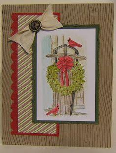 "Stitchin n Stampin' on Paper: Holiday Catalog Blog Hop **** SU ""Winter Memories"", 2012 Holiday Mini."