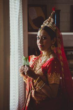 Bengali bride <3   Bengali Gujarati Indian Wedding in Tucson, Arizona   Photographs by IQPhoto Studio