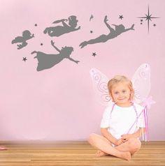 Peter Pan decal vinyl wall decal nursery kids room by haitaohot