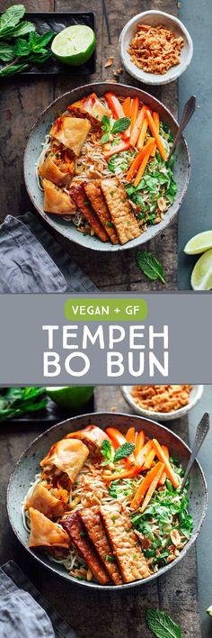 Tempeh Bo Bun Cha Gio