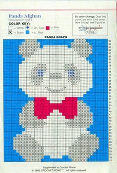 Arts by Cachopa - Trico & Croche: Croche - infantile Manta - Panda afghan