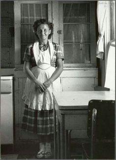 Vintage photo, farmer's wife.: