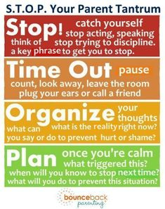 Using the STOP method to stop a parenting tantrum - try this them next time you're losing your temper! #ParentingTeens