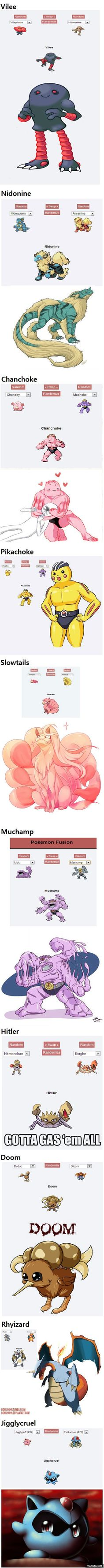 Hilarious Pokemon fusions part 2