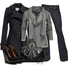 Fall Outfits | Black and Gray | Fashionista Trends