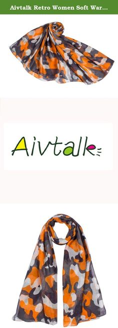 Aivtalk Retro Women Soft Warm Volie Scarf Camouflage 180*110CM - Orange. Features: Gorgeous & beautiful All-match for any dressing styles Warm and soft Lightweight can be taken into bag whenever you need Specifications: Material: Volie Occasion: Daily Size: 180*110CM / 70.87*43.30inch Pattern: Camouflage Gender: Women Seansons: Spring / Autumn / Winter Style: Scarf Colour: As the Picture shown Notice: The measurement may have 1-3cm (0.39-1.18inch) inaccurate errors. There might be slight...