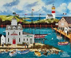 Jane Wooster Scott ~ Peaceful Harbor