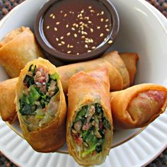 "My favorite Southern meal ""Collard Greens and Smoked Pork"" all rolled up in a crispy spring roll. Enjoy my Americasian Appetizer! Cooking with Love & Passion  sw :)"