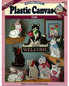 Plastic Canvas Cat Patterns Free | Cats Plastic Canvas Pattern California by grammysyarngarden