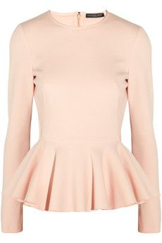 Alexander McQueen Stretch wool-blend peplum top | THE OUTNET