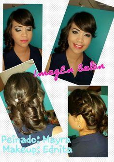 #Teamwork Peinado elaborado por Mayra, Maquillaje por Edna Cruz.