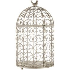 Large Gray Round Bird Cage