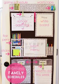 Organizing Family Schedules-there's a Thirty One product for that! The Hang Up Home Organizer! I have one and love it!  mythirtyone.com/CaraBach/
