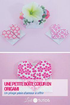 Tutoriel : Pour la Fête des Mères, créons une petite boite en forme de cœur ! - sur www.LaetiTutos.fr