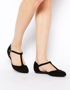 Enlarge New Look Jupiter Black T Bar Flat Shoes
