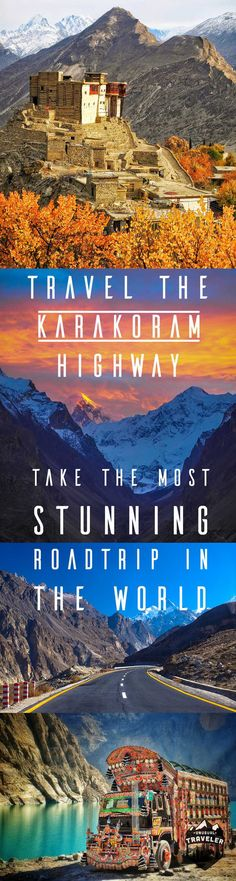 Travel the Karakoram Highway in Pakistan, the worlds most stunning Road trip. : Travel the Karakoram Highway in Pakistan, the worlds most stunning Road trip. Pakistan Reisen, Pakistan Travel, Pakistan Food, Karakorum Highway, Bangkok, Travel Guides, Travel Tips, Travel Hacks, Travel Packing