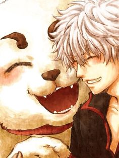 Gintama ~~ Friends :: Sadaharu & Gintoki