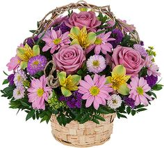 Shop online for fresh spring flowers for same day flower delivery across Canada with Canada's National Florist. Romantic Flowers, Lavender Flowers, Spring Flowers, Beautiful Flowers, Wedding Flowers, Basket Flower Arrangements, Floral Arrangements, Flowers Canada, Share Pictures