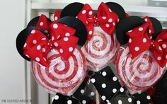 Minnie Mouse Lollipops