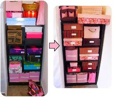 DIY Stylish Crafts Storage Organization in 30 mins: Decorative Boxes with Supplies from Dollar Store - shoe boxes and wrapping paper.