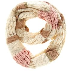 Cream mixed yarn snood ($9) ❤ liked on Polyvore featuring accessories, scarves, cream, dorothy perkins, snood scarves and cream shawl