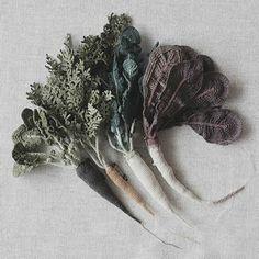 Crocheted carrots, Japanese artist, Jung-jung