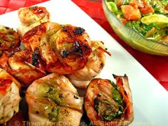 Grilled Turkey Pesto Rolls with Avocado Relish