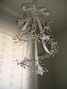 This would be so cute in a little girl's room! Just have to make sure beads don't fall & get into little ones hands