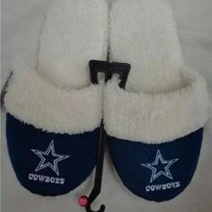 a28478a9d568 Buy Dallas Cowboys Official NFL Womens Sherpa Slipper Both knit uppers  displayDallas Cowboys team logo Lined with contrast-colored Sherpa fleece  Officially ...