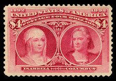 Queen Isabella I was the first woman to appear on a U.S. postage stamp in 1893.