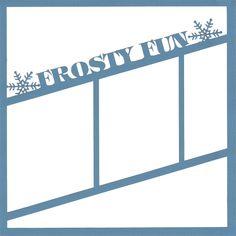 Frosty Fun 12 x 12 Overlay Laser Die Cut