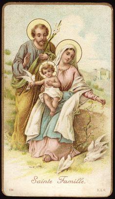 Holy Family - Antique Holy Card www.fullofgraceusa.com