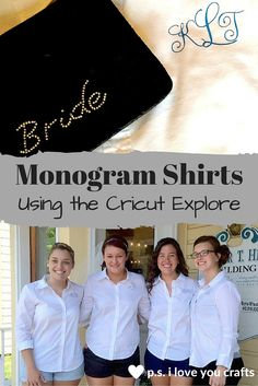 I made these Monogrammed Shirts with my Cricut Explore. They were for my…
