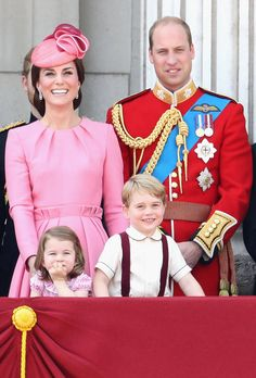 Kate Middleton, Prince William, Princess Charlotte & Prince George -  Trooping the Colour 2017