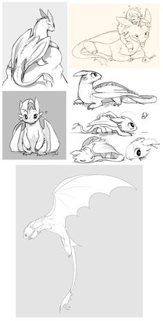 Toothless dump xD by Kiwibon on DeviantArt Toothless dump xD by Kiwiggle. Httyd Dragons, Cute Dragons, Toothless Drawing, Toothless Tattoo, How To Draw Toothless, Fantasy Creatures, Mythical Creatures, Dragon Sketch, Arte Sketchbook