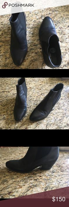 Franco starto black booties fall leather NWOT sexy These are a pair of beautiful black boots size 71/2 never worn in great condition! Perfect for this fall with skinny jeans or a dress! Franco Sarto Shoes Ankle Boots & Booties