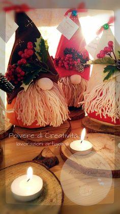 Simpaticissimi Gnometti Norvegesi in feltro, ideali come regalo di Natale o semplicemente come addobbo natalizio per le vostre case