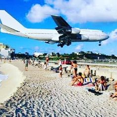 The Sunset Bar in the tiny Dutch/French Island of St. Maarten in the Caribbean is kissing distance from the airport runway! Perfect place to sunbathe in the shadow of a jumbo jet! by plushplaces