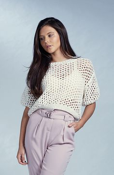 Free Knitting Pattern for Modern Cropped Tee