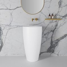 Annelie Stone Freestanding Cylinder Basin 500mm - Fast delivery available on your bathroom products Rustic Bathroom Designs, Modern Bathroom Design, Bathroom Interior Design, Marble Tile Bathroom, Bathroom Basin, Modern Pedestal Sink, Stone Basin, Shower Panels, Wet Rooms